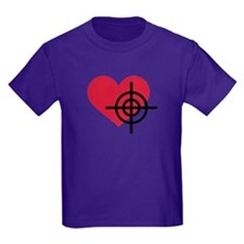 Red heart crosshairs T