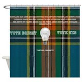 Vote Bright Vote Yes with Tartan Shower Curtain