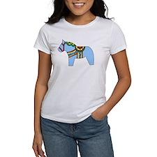 Blue Dala Horse Tee
