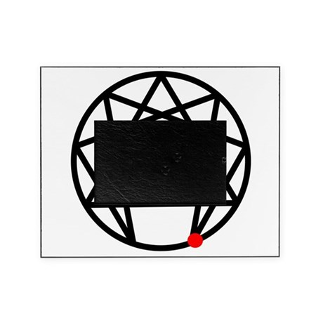 Enneagram 4 White.png Picture Frame