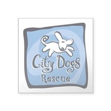 "City Dogs Rescue Square Sticker 3"" x 3"""