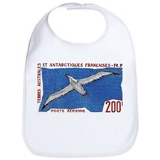 1959 French Antarctic Albatross Postage Stamp Bib