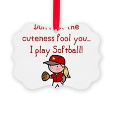 Unique Softball Ornament