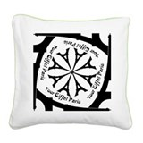 Tour Eiffel Paris pinwheel Square Canvas Pillow