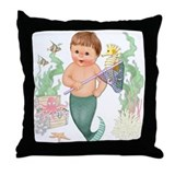 Little Merboy Throw Pillow