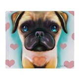 The love Pug Throw Blanket