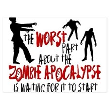 Zombie Apocalypse Waiting Invitations