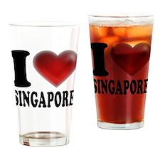 I Heart Singapore Drinking Glass