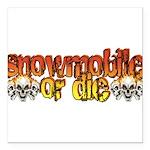 snowdie.png Square Car Magnet 3
