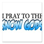 Snow Gods Square Car Magnet 3