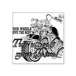 Two wheels move the soul Square Sticker 3