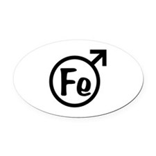 Fe Man Oval Car Magnet