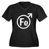 Fe Man Women's Plus Size V-Neck Dark T-Shirt