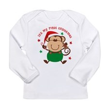 Monkey Boy 1st Christmas Long Sleeve Infant Tee