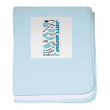 Grey's Anatomy Sayings baby blanket