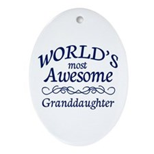 Awesome Granddaughter Ornament (Oval)