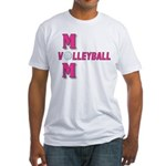 VOLLEYBALL MOM Fitted T-Shirt