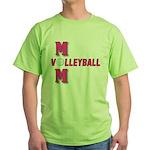 VOLLEYBALL MOM Green T-Shirt