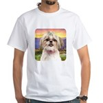 Shih Tzu Meadow White T-Shirt