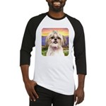 Shih Tzu Meadow Baseball Jersey