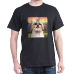 Shih Tzu Meadow Dark T-Shirt