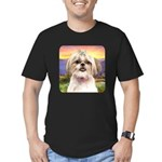 Shih Tzu Meadow Men's Fitted T-Shirt (dark)