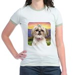 Shih Tzu Meadow Jr. Ringer T-Shirt