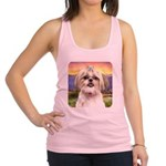 Shih Tzu Meadow Racerback Tank Top