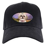 Shih Tzu Meadow Black Cap