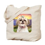 Shih Tzu Meadow Tote Bag