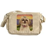 Shih Tzu Meadow Messenger Bag