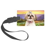 Shih Tzu Meadow Large Luggage Tag