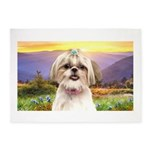 Shih Tzu Meadow 5'x7'Area Rug