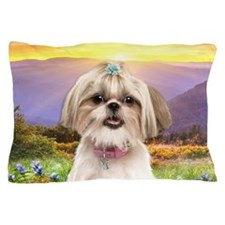 Shih Tzu Meadow Pillow Case