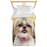Shih Tzu Meadow Twin Duvet