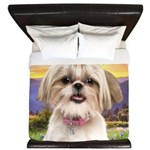 Shih Tzu Meadow King Duvet