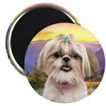 Shih Tzu Meadow Magnet