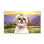 Shih Tzu Meadow Car Magnet 20 x 12