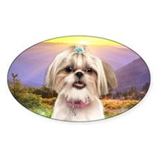 Shih Tzu Meadow Decal