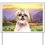Shih Tzu Meadow Yard Sign