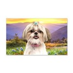 Shih Tzu Meadow 20x12 Wall Decal