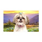 Shih Tzu Meadow 35x21 Wall Decal