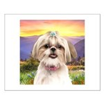 Shih Tzu Meadow Small Poster