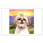 Shih Tzu Meadow Large Poster