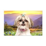 Shih Tzu Meadow Mini Poster Print