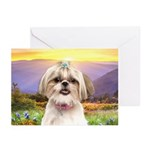 Shih Tzu Meadow Greeting Cards (Pk of 20)
