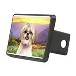 Shih Tzu Meadow Rectangular Hitch Cover