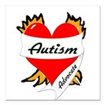 Autism Advocate Tattoo Heart Square Car Magnet 3