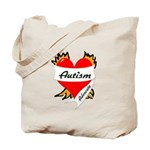 Autism Advocate Tattoo Heart Tote Bag