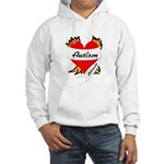 Autism Advocate Tattoo Heart Hooded Sweatshirt